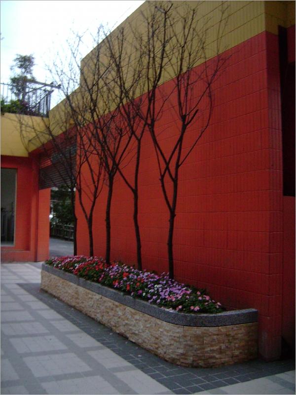 花台设计效果图; 花台- 绿境景观工程行; 中庭景观