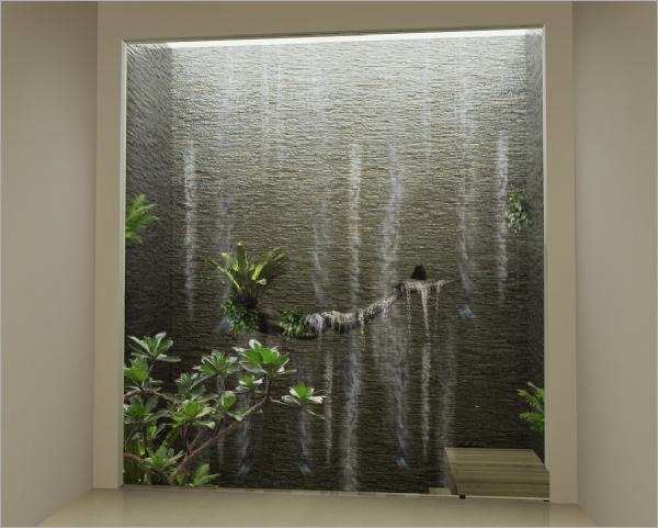 金湖路流水墙 - 绿境景观工程行 - 庭园景观工程,中庭图片